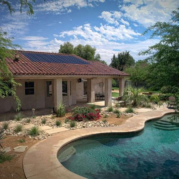 Low profile solar panels