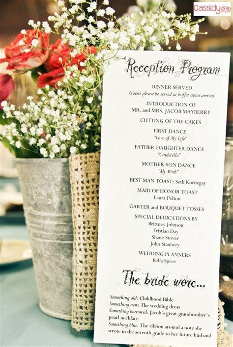 reception program with decorations   I had my dream