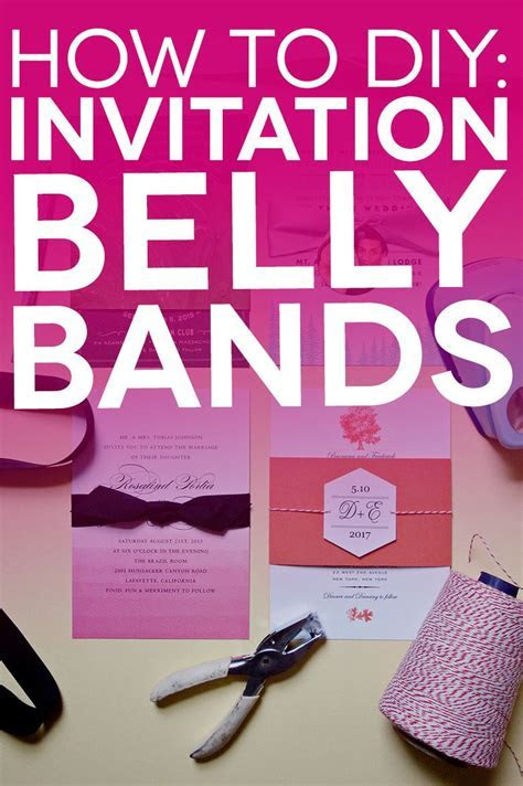Free Printable Belly Bands and Tags for Your DIY