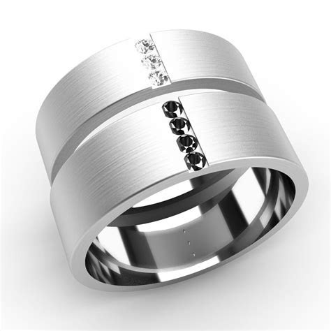 His and Hers Wedding Rings Diamond Set Bands White Gold   eBay