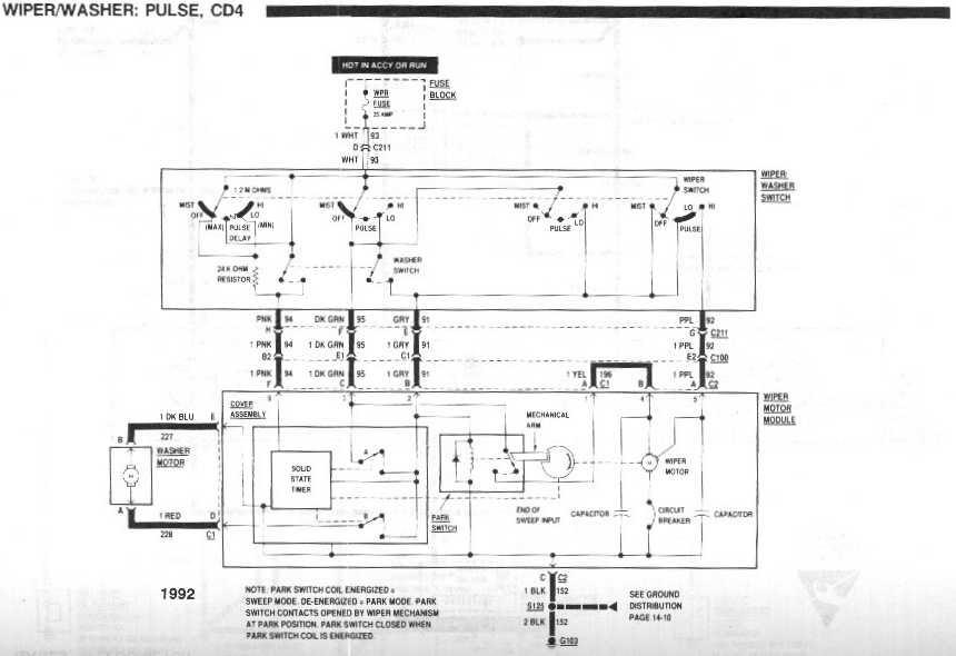 98 Buick Park Avenue Wiper Motor Wiring Diagram
