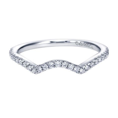 Gabriel & Co. Engagement Rings Diamond Curved Wedding Band