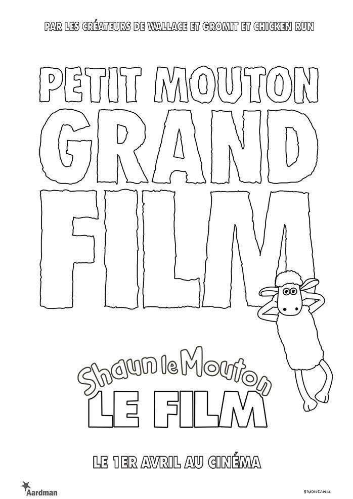 Coloriage Des Personnages Du Film Shaun Le Mouton Laffiche Du Film