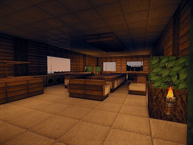 Modern wooden house! Minecraft Project