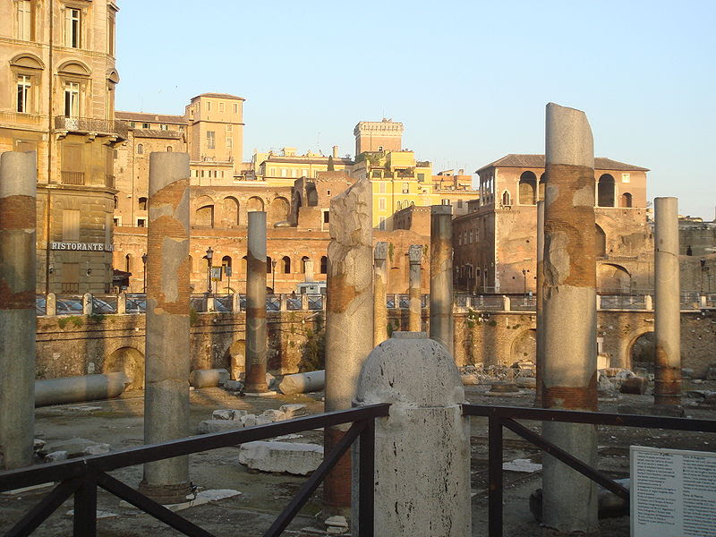7960 - Roma - Basilica Ulpia - Foto Giovanni Dall'Orto, 6-Apr-2008.jpg