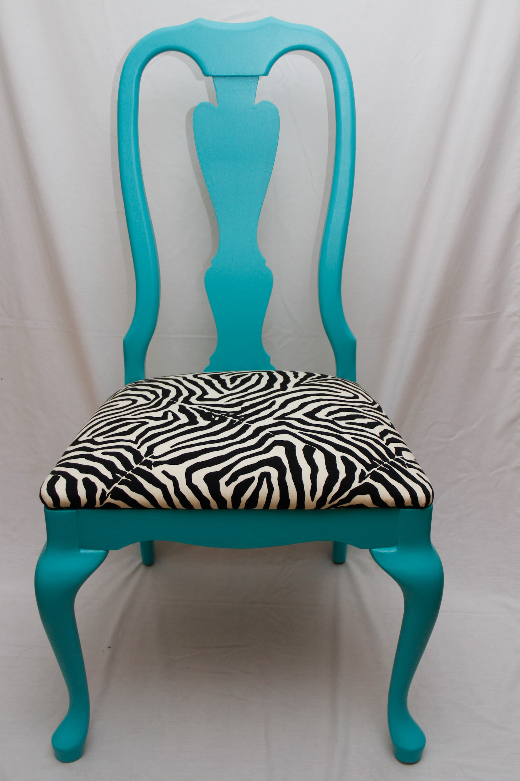 Zebra and Teal Chair | Lori Wilson's Blog