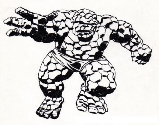 Dibujo De La Mole Hombre Roca Para Pintar Y Colorear Colorear