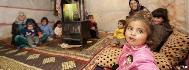Syrian refugees in Jabaa, Lebanon