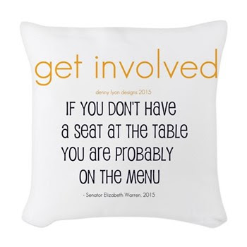 Why Get Involved Woven Throw Pillow