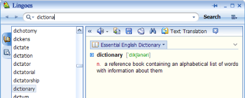 Lingoes The Best Free Dictionary and Translator