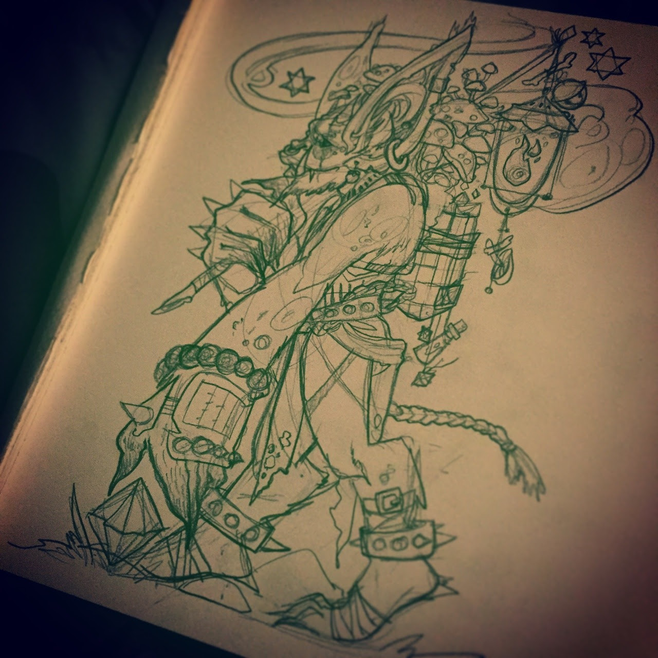 Inktober and drawlloween day 3 goblin
