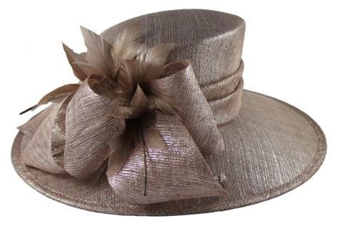 Wedding Hats 4U   Hawkins Collection Ascot Hat in Taupe
