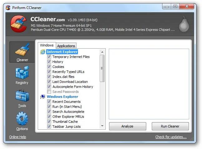 descargar ccleaner para windows xp gratis