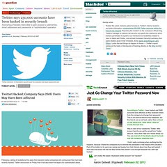 """Twitter Hacked: 250k accounts affected"" #secu..."
