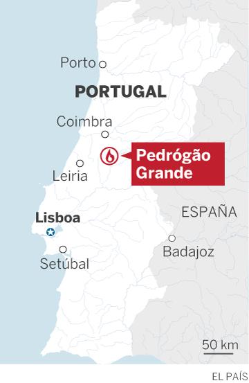 Al menos 62 muertos y 54 heridos en un incendio forestal en Portugal