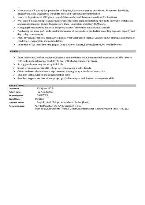Manohar Resume