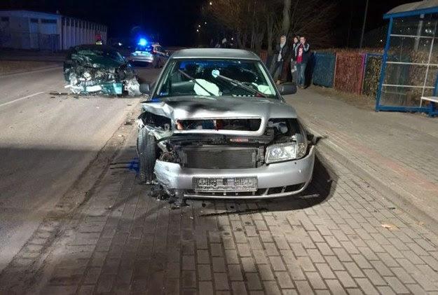 Audi ucierpiało nieco mniej / Fot: Policja /