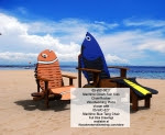 Maritime Clown Fish Kids Chair and Rocker Woodworking Plan - fee plans from WoodworkersWorkshop® Online Store - clown fish chairs,Adirondack chairs,finding nemo,Disney,yard art,painting wood crafts,scrollsawing patterns,drawings,plywood,plywoodworking plans,woodworkers projects,workshop blueprints