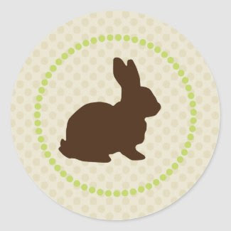 Easter Bunny Cupcake Topper/Sticker sticker