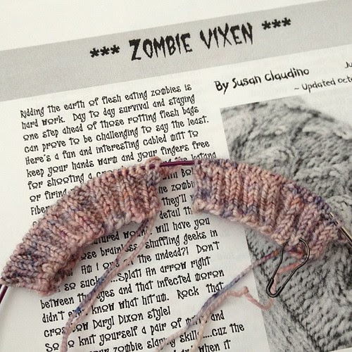 Woo hoo!!! #zombievixenkal2013 #ravelry