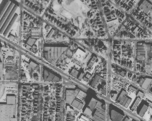 University Avenue near Raymond, 1953