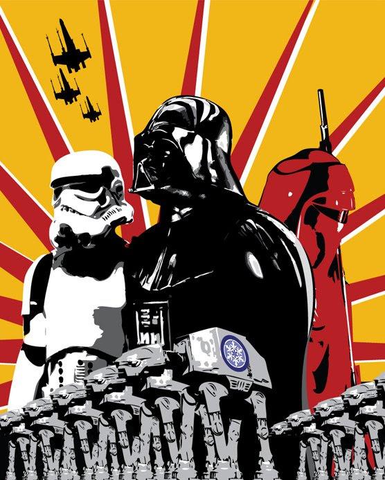 The Evil Empire Propaganda Poster