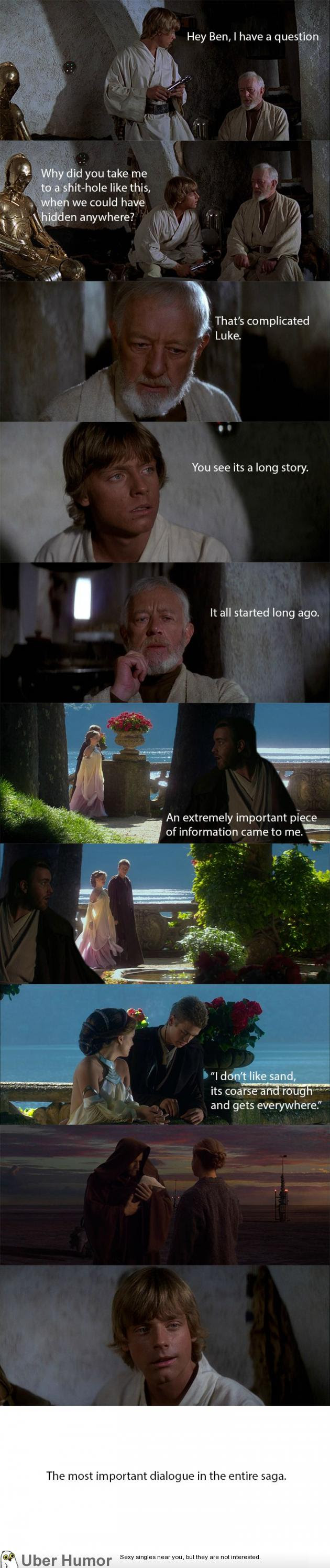 The Most Important Dialogue In The Star Wars Saga Funny Pictures
