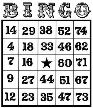 Bingo cards uk