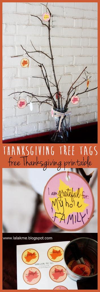 Thanksgiving Tree Tags__Free Thanksgiving Printable