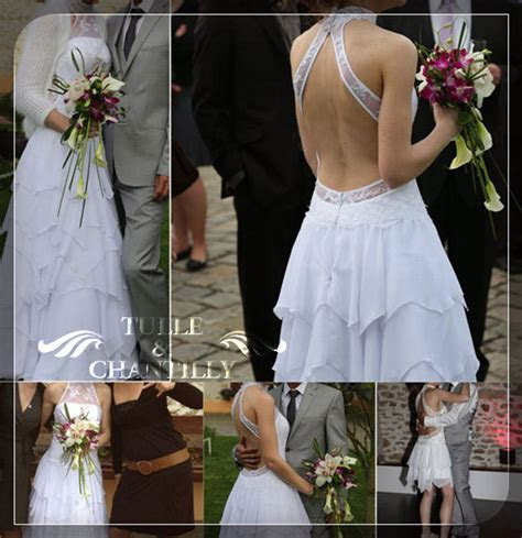 two in one ruffled wedding dresses   Tulle & Chantilly