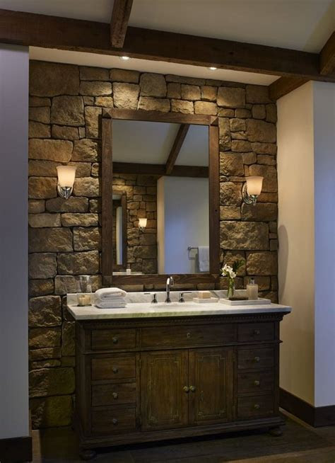 stone bathroom ideas original decorations  great