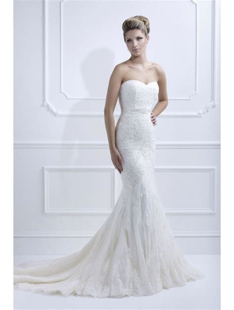 Ellis Bridals 11330A Strapless Lace and tulle Dress