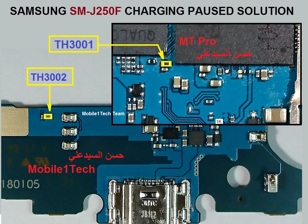Samsung Galaxy J2 Pro Charging Paused Solution Jumpers
