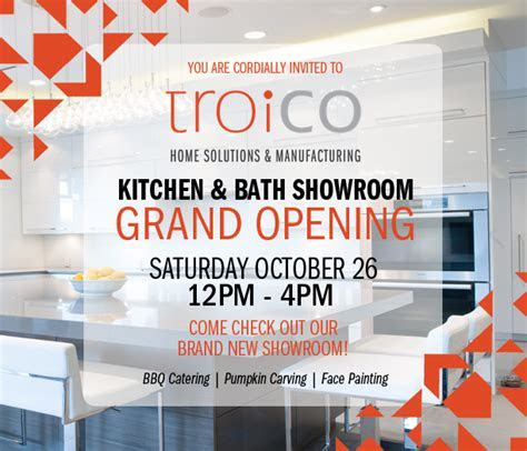 You are Cordially Invited to Troico's Showroom Grand