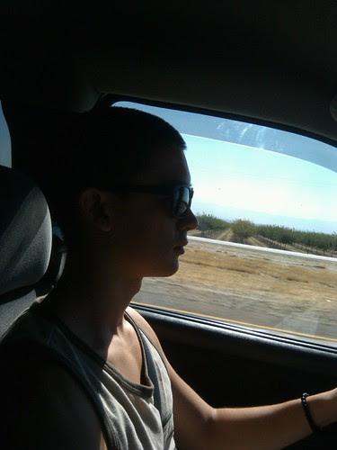 Evan behind the wheel