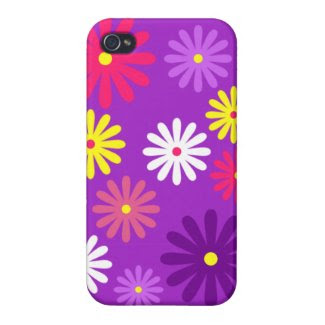 Purple Daisy iPhone 4 Case