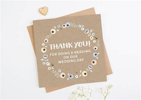 Thank You Reading Wedding Day Card   norma&dorothy
