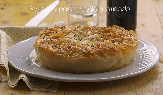 Pastel de patata y salmón ahumado