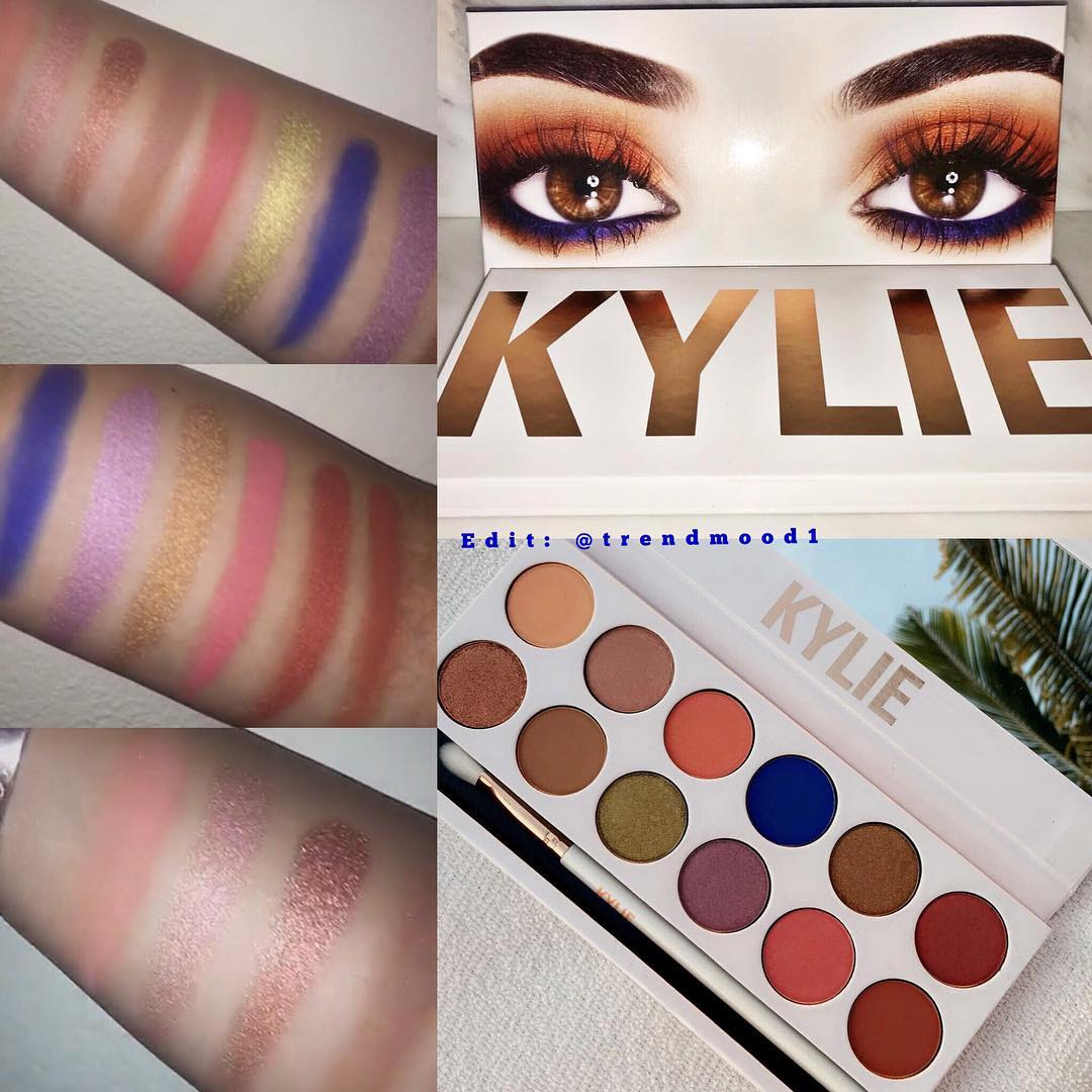 Kylie Cosmetics Royal Peach Palette Swatches and Review
