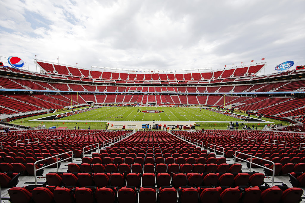 The interior of Levi's Stadium.