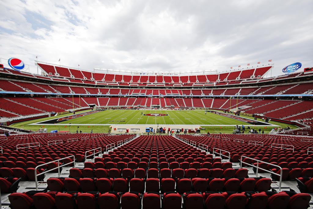 The interior of Levi's Stadium.