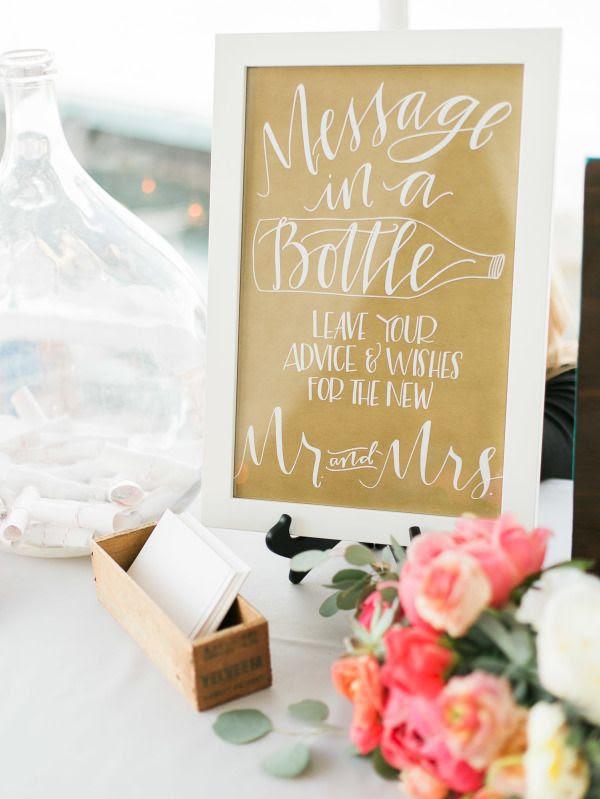 Alternative Wedding Guest Book Nautical Message In A Bottle