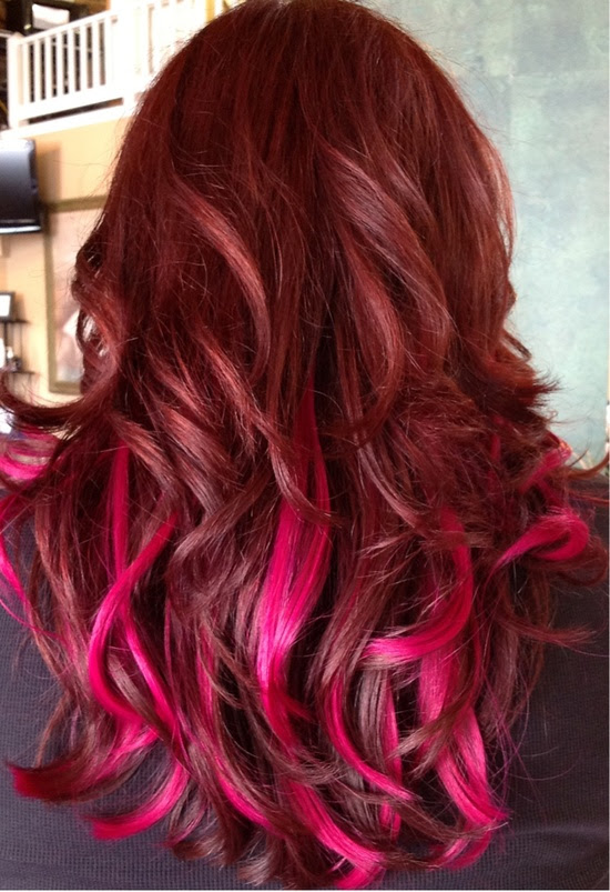 Red Ombre Hairstyles Tumblr Haircuts