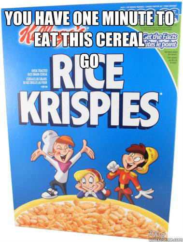 the problem with rice krispies memes | quickmeme