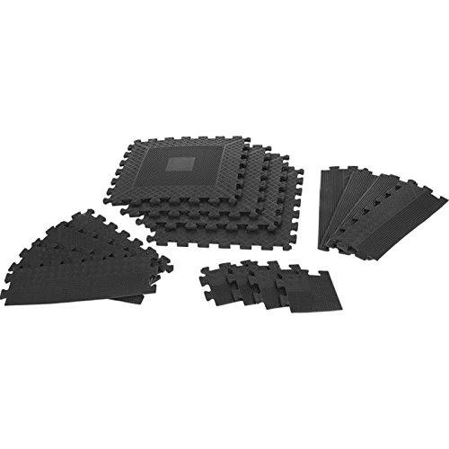 Gorilla Sports Rubber Interlocking Floor Mats 16 Piece Set