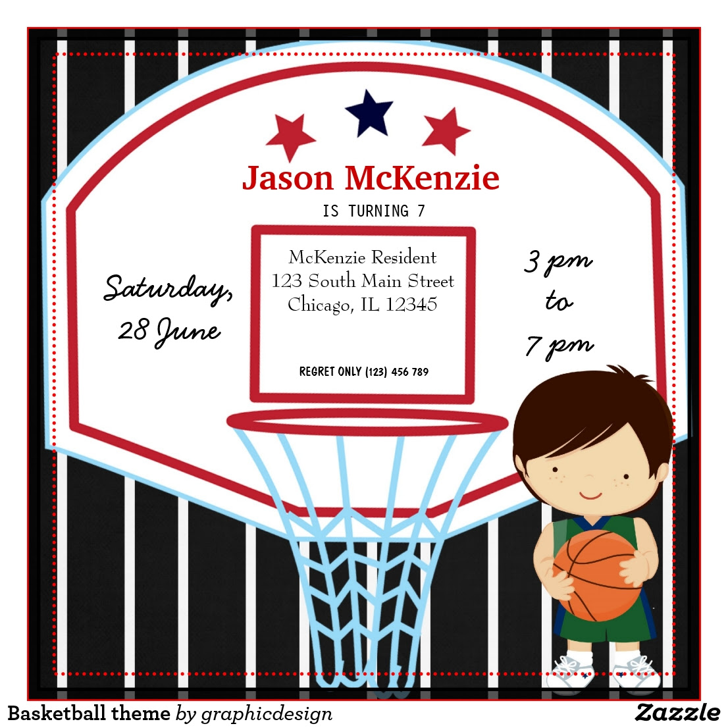Carte D Invitation Anniversaire Basket Gratuite, Cartes... | fiolazoezoey site
