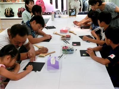 松菱 工作教室 チョークアート,チョークアート教室,松菱 夏休みイベント