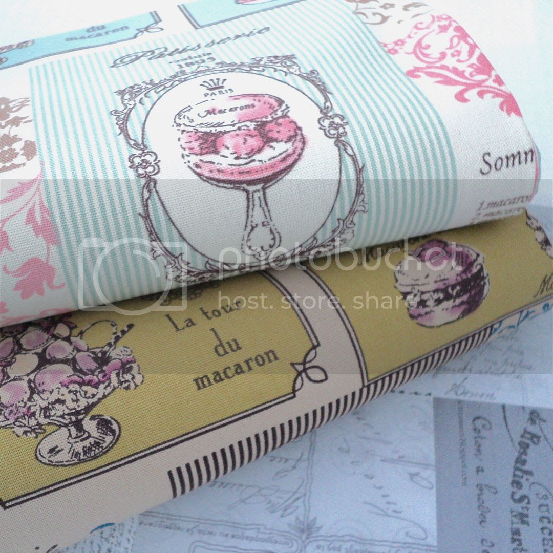 FRENCH-PARIS-PATISSERIE-MACARON-LINEN-LOOK-FABRIC-script-natural-recipe-FOLK
