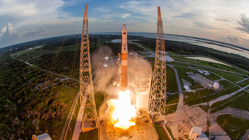 A United Launch Alliance Delta 4 rocket launches two U.S. Air Force Geosynchronous Space Situational Awareness Program (GSSAP) satellites from Cape Canaveral Air Force Station, Florida, on July 28, 2014. Credit: ULA