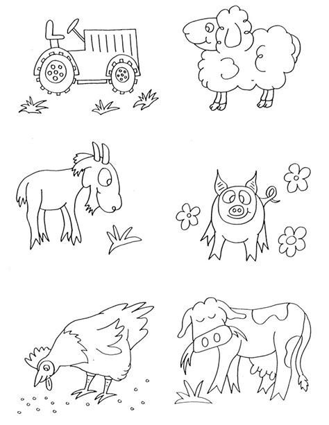 farm animals coloring pages  printable grade